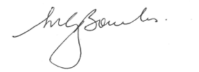 The image is of Secretary Martin Bowles' signature, certifying the Department's Fraud Control Arrangements.